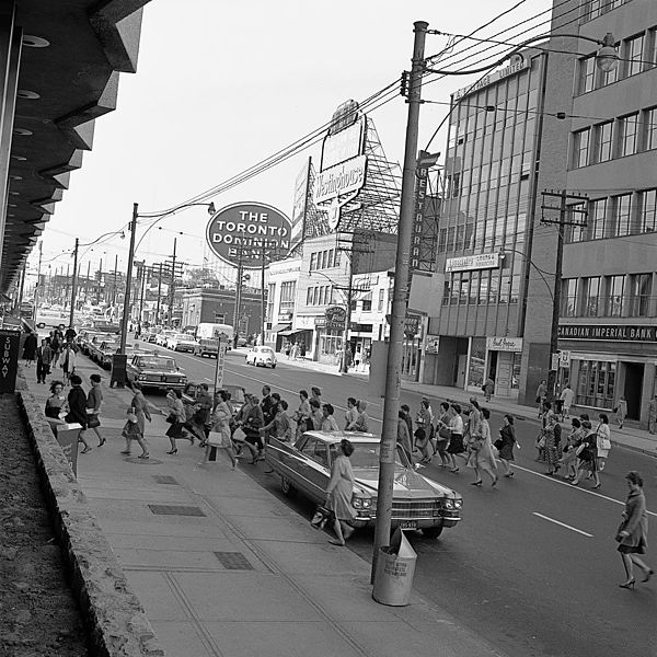 Yonge Street outside Eglinton station Toronto 1963